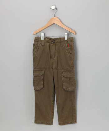 Army Green Cargo Pants - Infant, Toddler & Boys