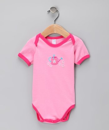 Pink Watering Can Organic Bodysuit - Infant