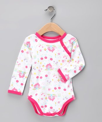 Pink Cottage Organic Bodysuit - Infant