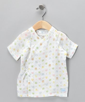 White Forest Friends Organic Wrap Top - Infant