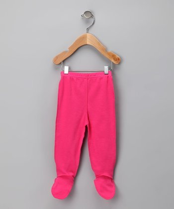 Hot Pink Organic Footie Pants - Infant