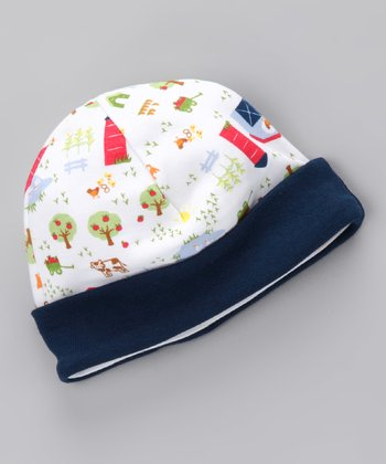 Navy Farm Organic Beanie - Infant
