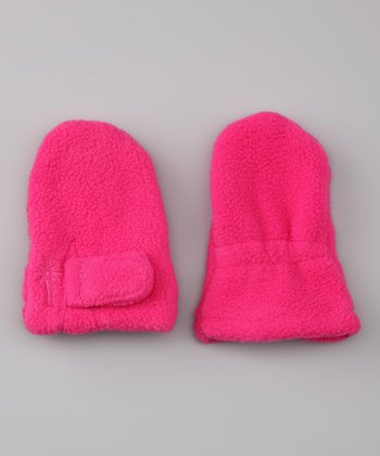 Hot Pink Fleece Mittens