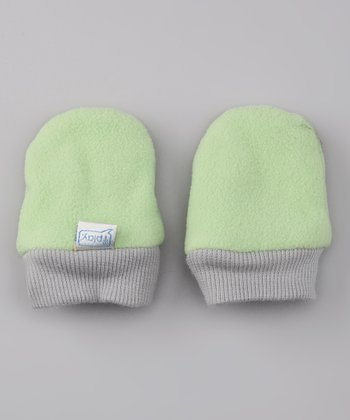 Sage Fleece Mittens