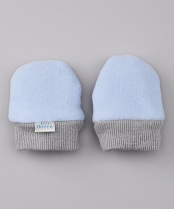 Cornflower Fleece Mittens