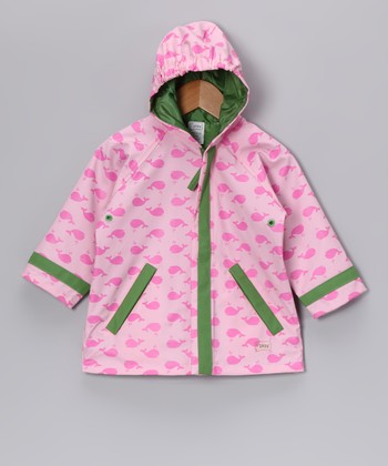 Pink Whale Raincoat - Infant