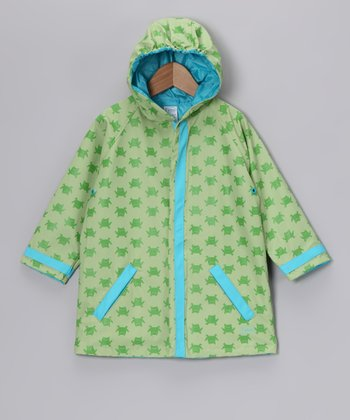 Green Frog Raincoat - Infant
