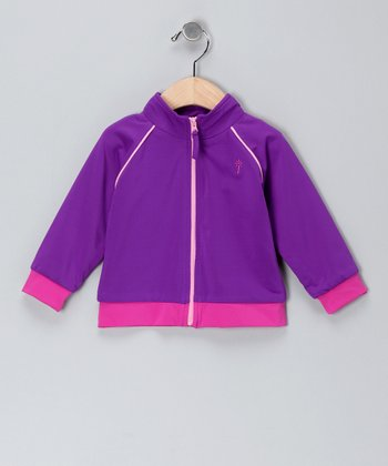 Plum Zip-Up Jacket - Infant & Toddler