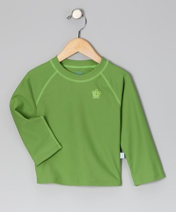 Olive Green Tortoise Rashguard - Infant & Toddler