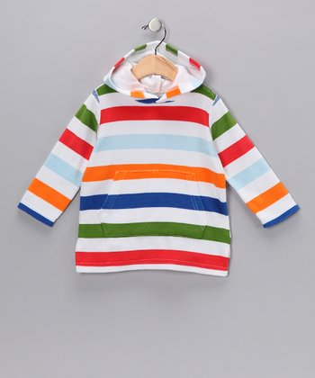 Orange & Green Stripe Hoodie - Infant & Toddler