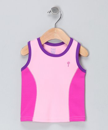 Plum Racerback Tank - Infant