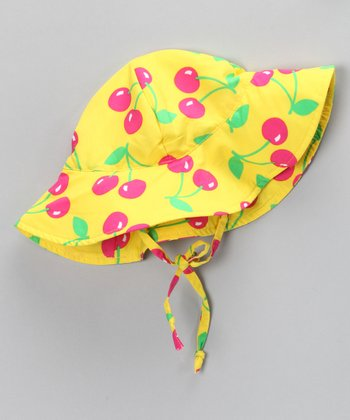 Yellow Cherry Sunhat