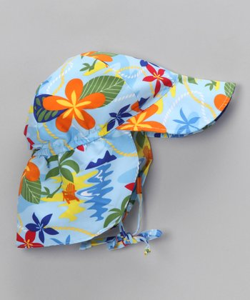 Light Blue Hawaiian Desert Hat