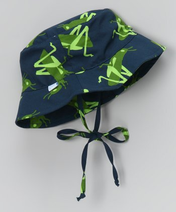 Navy Grasshopper Bucket Hat