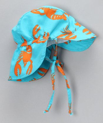 Teal Lobster Desert Hat