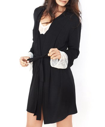 Black Lace Kissed Robe