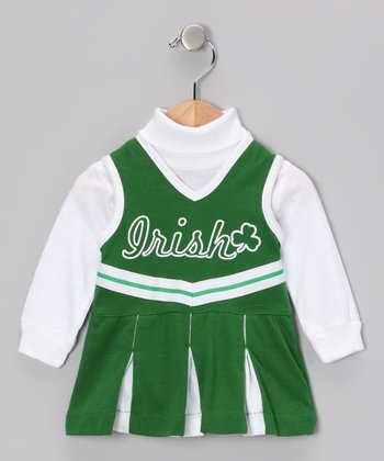 ishopirish Kelly & White 'Irish' Cheer Dress - Infant & Toddler