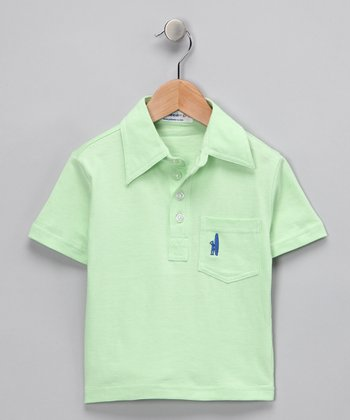 Pale Green Polo - Toddler & Boys