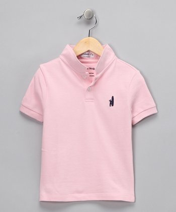 Pink Wedge-Collar Polo - Toddler & Boys