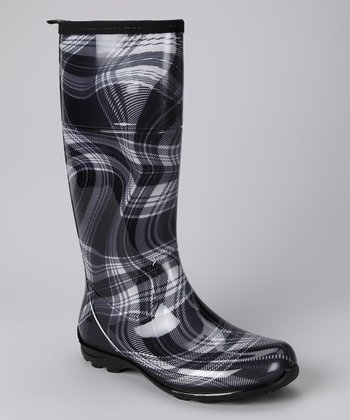 Black Kathryn Rain Boot