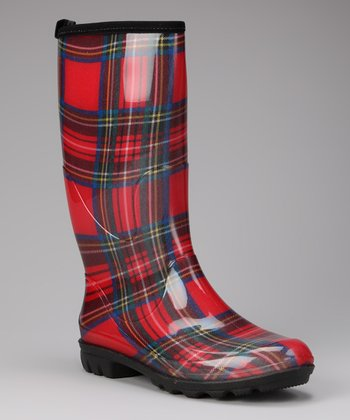 Red Christina Rain Boot