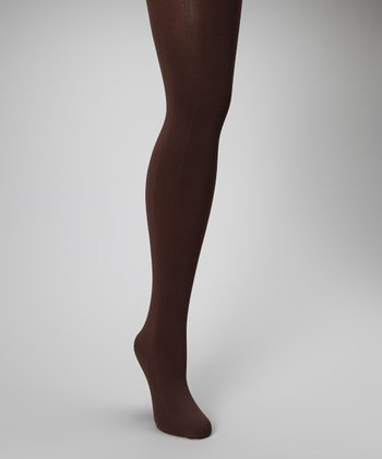 Brown Opaque Tights