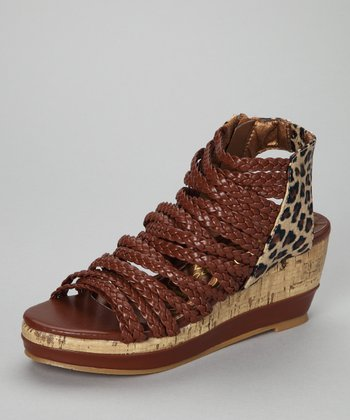 Brown Leopard Gladiator Sandal