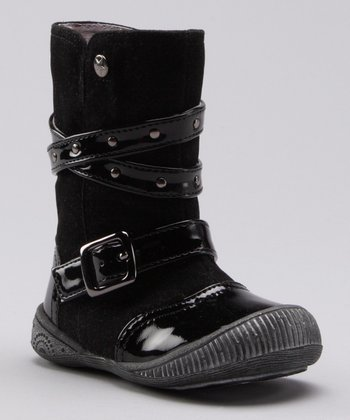 Black Patent & Suede Boot