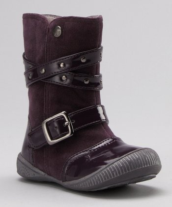 Purple Patent & Suede Boot