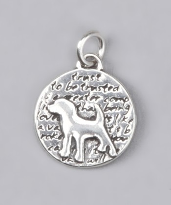 Sterling Silver Small Dog Pendant