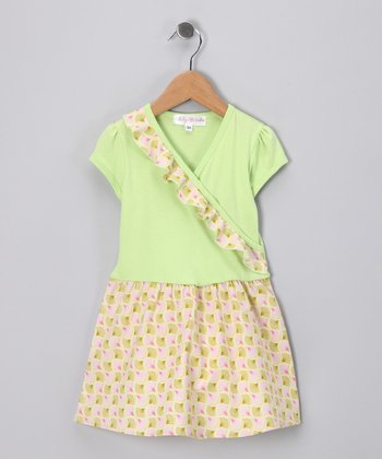 Citrus Fan Surplice Dress - Toddler & Girls