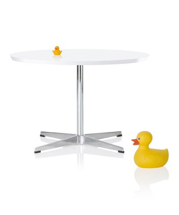 White & Silver Cygnet Table