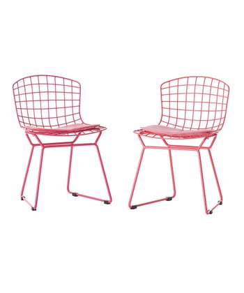 Pink Little Bert Chair - Set of Two