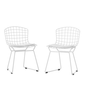 White Little Bert Chair - Set of Two