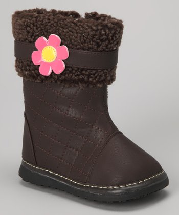 Brown Flower Squeaker Boot