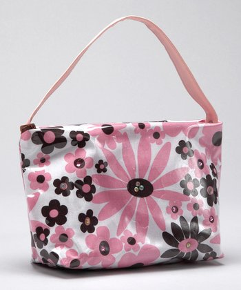 Pink & Brown Daisy Kaylee Purse