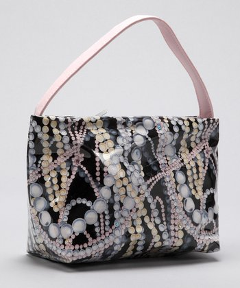 Black & Pink Pearl Purse