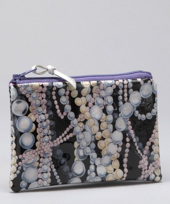 Black & Pink Pearl Coin Purse