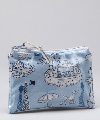 Blue Viva L' France Coin Purse