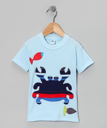 mini scraps Blue & Navy Crab Tee - Toddler & Boys