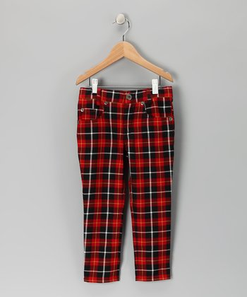 Red & Black Plaid Punk Pants - Toddler & Boys