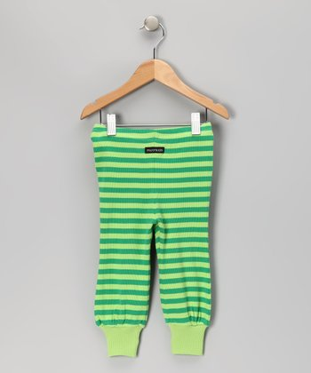 Green Stripe Pants - Toddler