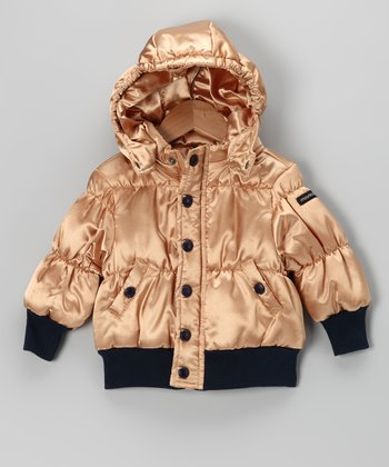 Gold Puffer Jacket - Infant & Toddler