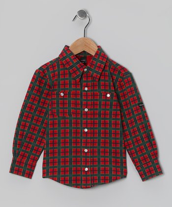 Red Tartan Button-Up - Toddler & Boys