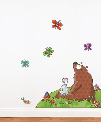 Animals Listen to a Story Wall Decal