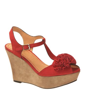 Apple Abloom Wedge Sandal