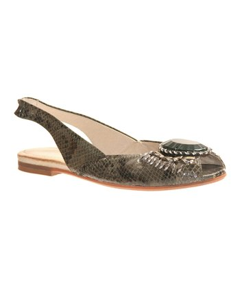 Mint Honored Slingback Flat