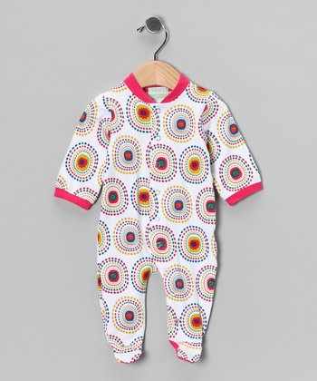 Fuchsia Disco Dot Organic Footie - Infant
