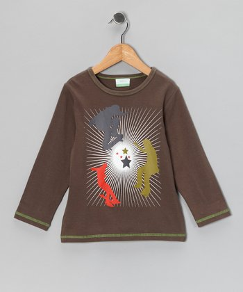 Brown Skateboard Organic Tee - Toddler & Kids