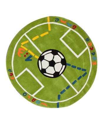 nuLOOM Green World Cup Rug